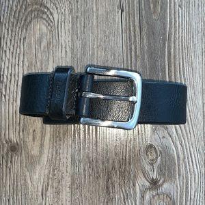 Men's Black Leather Fossil Belt